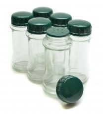Gewürzstreuer aus Glas (6 Stück)